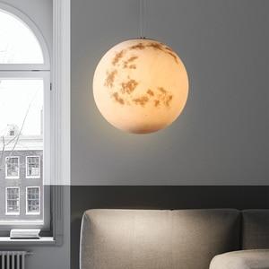 Image 3 - Galaxy Moon hanging Lamp Planetary globe pendant Lights Christmas Children room Decorations Light lamps saturn jupiter earth sun