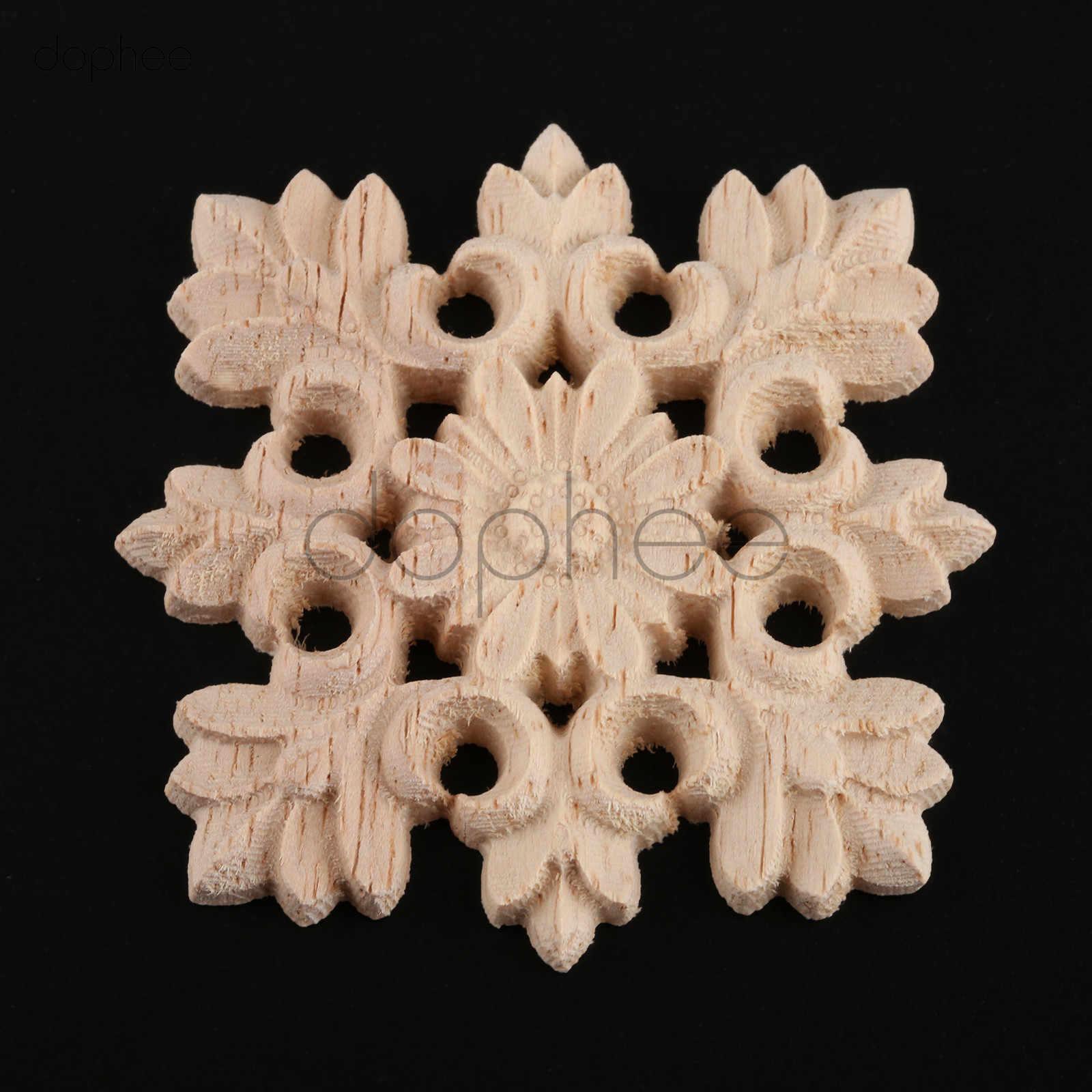 Figurines Woodcarving Corner Decal Onlay Furniture Frame Applique Carved Decor