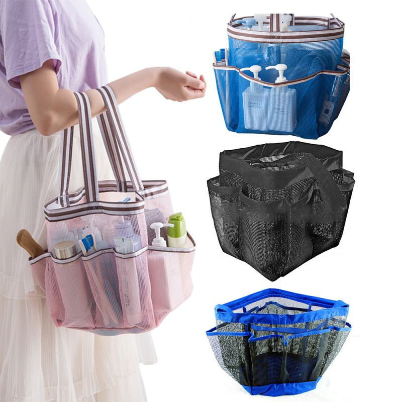 Bag Grid Drain Washing Supplies Storage Bag Washing Bag Multi-function Mesh Portable Swimming