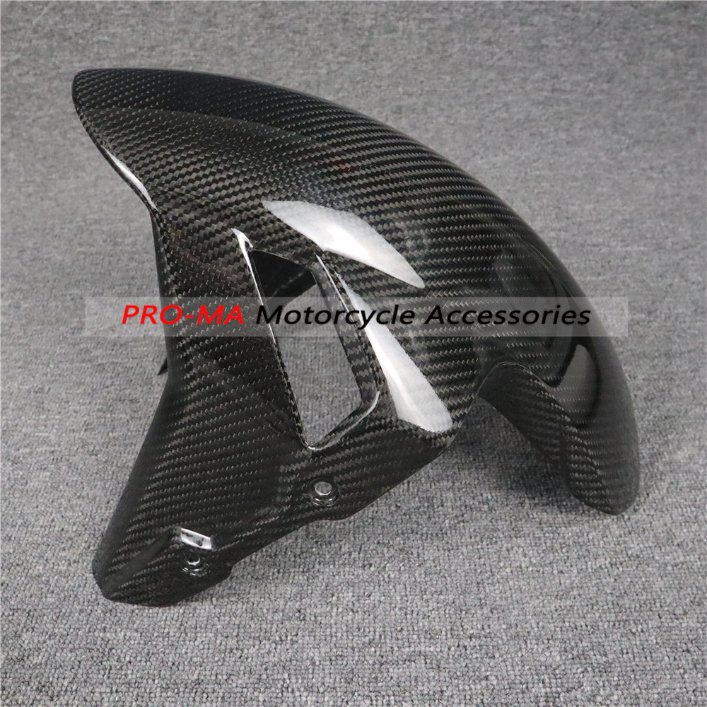 motorcycle front fender fairing kits in carbon fiber For BMW S Series S1000RR 2018-2019 Twill glossy weave image