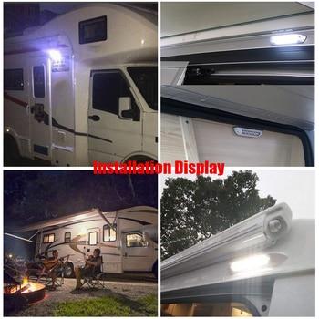 Hot Awning Lamp 12V LED Awning Lamp Waterproof Exterior Lamps Light Bar for Motorhome Caravan RV Van Camper