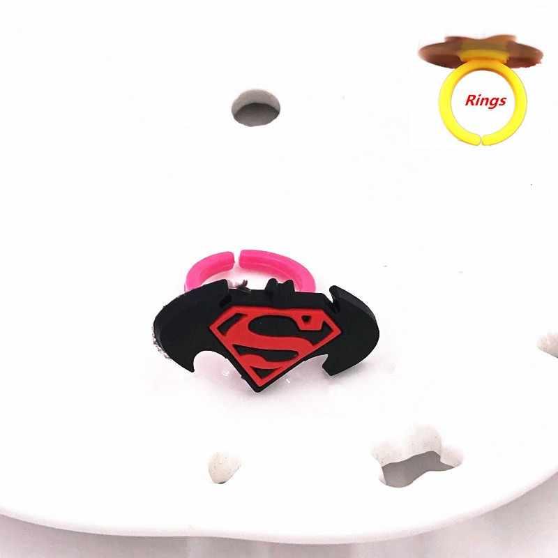 1 pçs dos desenhos animados anime avengers hudson carro personagem anel de silicone anéis de dedo para o bebê macio jewerly acessórios do miúdo presentes