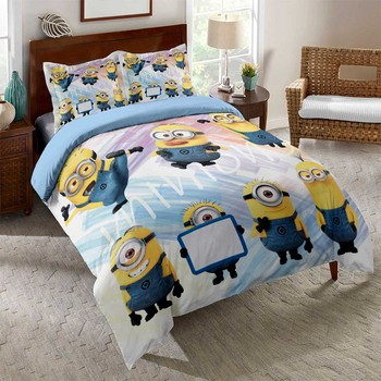 Funny Capsule Bedding Set Microfiber Bed Linen Set 2/3Pcs Custom Single Double Comforter Cover Pillowcase Happy New Year Gift 2