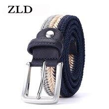 ZLD cintura in pelle da uomo in vera pelle intrecciata con fibbia ad ardiglione di alta qualità casual Trend designer di lusso abbigliamento All-match con cintura