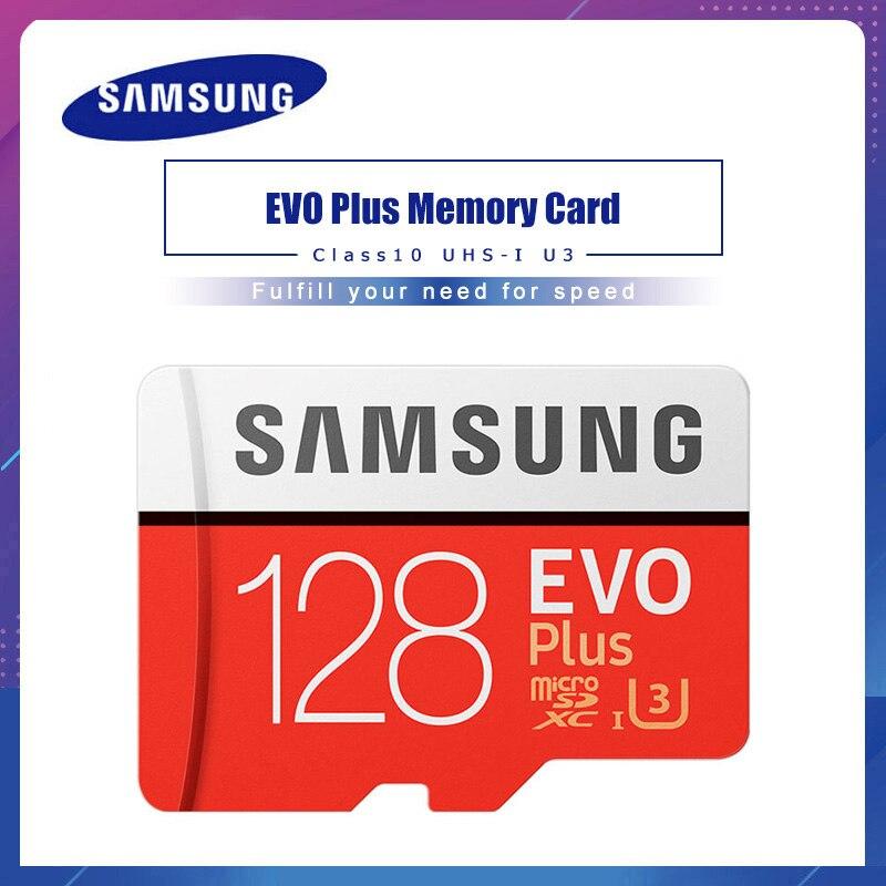 Carte Micro SD SAMSUNG 128 go carte mémoire EVO Plus 128 go Class10 TF carte C10 microsd UHS I U3 carte mémoire |