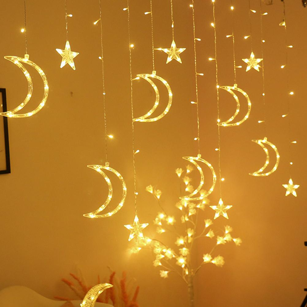 LED Moon Star Fairy Light Strings Romantic Night Lamp Home Birthday Party Decor Safety Stability And Series Connection Similar