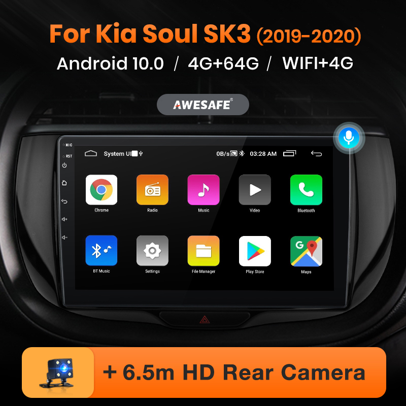AWESAFE PX9 für Kia Seele SK3 2019 - 2020 Auto Radio Multimedia video player GPS Keine 2 din Android 10,0 2GB + 32GB