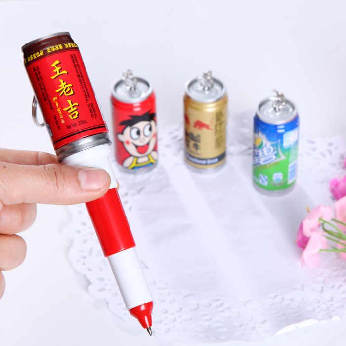 1 sztuk Kawaii napoje puszki długopis magia Pilot długopis szkolne materiały biurowe do pisania szkolne materiały papiernicze długopis