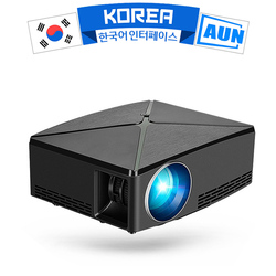 AUN LED Projector C80, 1280x720p Resolution, MINI Projector for Home Theater. Optional Android Version WIFI C80UP, Support 1080P