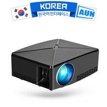 AUN HA CONDOTTO il Proiettore C80, Risoluzione 1280x720p, MINI Proiettore per il Teatro Domestico. Opzionale Versione di Android WIFI C80UP, Supporto 1080P