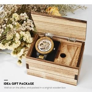 Image 5 - בובו ציפור אוטומטי שעון גברים reloj hombre עץ שעוני יד מכאני שעון Relogio Masculino סופר גדול גודל בקופסא עץ