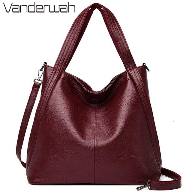 New Casual Tote Sacกระเป๋าถือหนังหรูผู้หญิงกระเป๋าออกแบบกระเป๋าถือคุณภาพสูงสตรีไหล่กระเป๋าสำหรับผู้หญิงBolsa