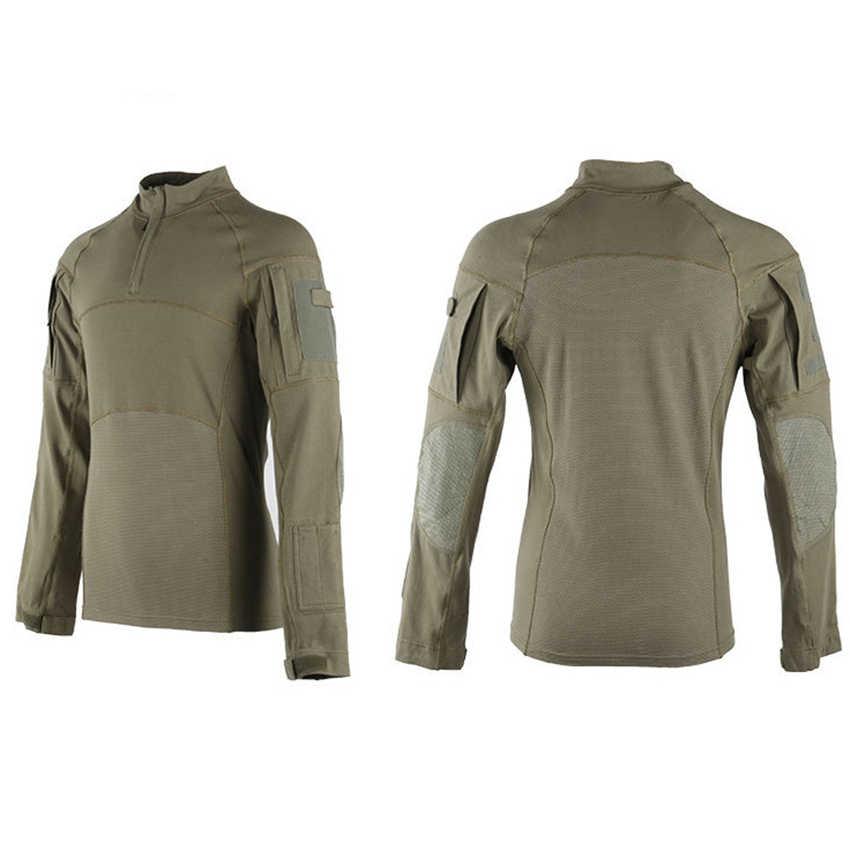 Männer 2020 Nachrichten Kampf Shirts Bewährte Taktische Kleidung Militär Uniform CP Camouflage Airsoft Armee Anzug Atmungsaktiv Arbeit Kleidung