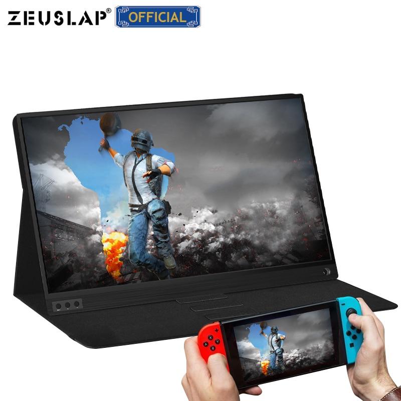 ZEUSLAP Портативный ЖК-монитор hd 15,6 usb type c HDMI-совместимый для ноутбука, телефона, xbox, переключателя и ps4 Портативный ЖК-игровой монитор