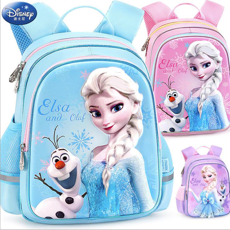 2019 Disney Frozen School Bag Elsa Anna Snow Queen Princess Backpacks Kids School Bag Breathable Backpack Girls Gift