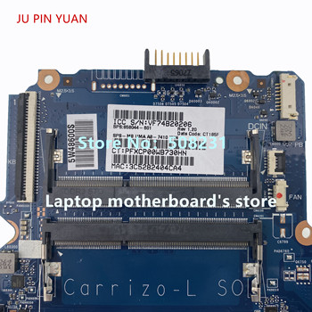 JU PIN YUAN 858044-601 858044-501 858044-001 mainboard For HP 14-AN 14-AN004AU Laptop Motherboard A8-7410M CPU 100% fully Tested