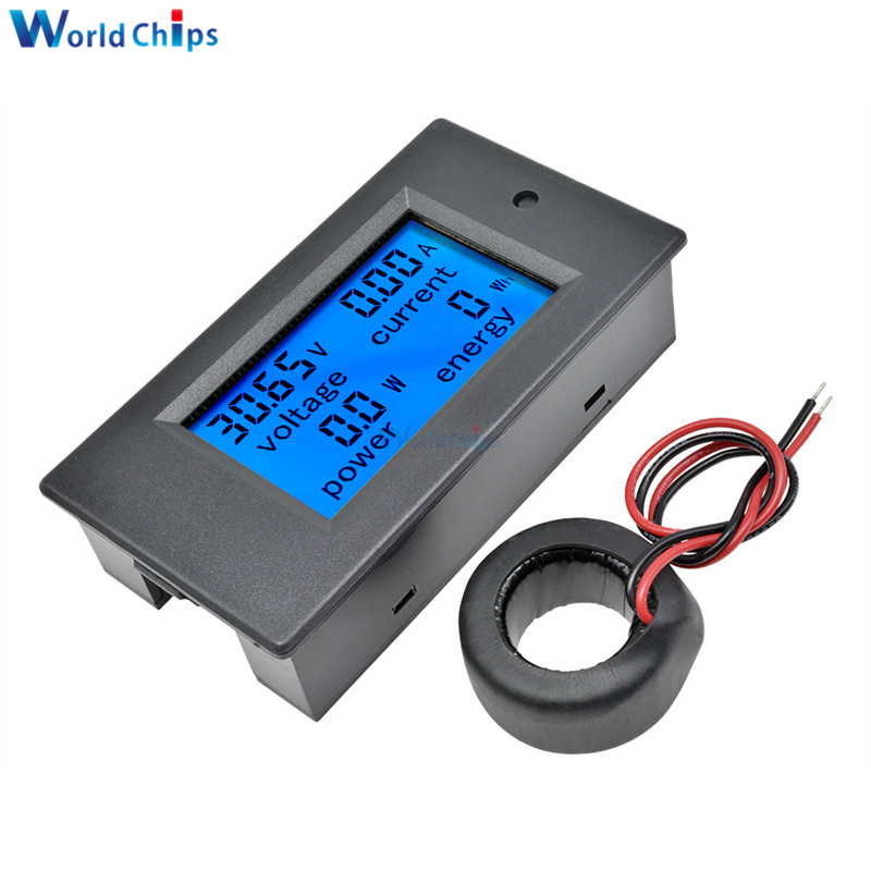 4 In 1 Digital Voltage Current Power Energy Meter Detector Large LCD Screen Display DC Voltmeter Ammeter