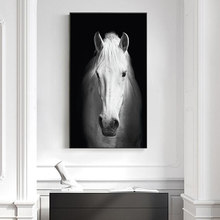 White Horse Canvas Art White Poster Print POP Modern Wall Art Pictures For Living Room Aisle Studio Entrance Lobby Christmas Gif(China)