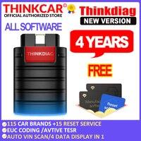 THINKCAR-herramienta de diagnóstico de coche, escáner Thinkdiag obd2, sistema completo, 4 años, tpms, autodata, envío gratis, PK elm327