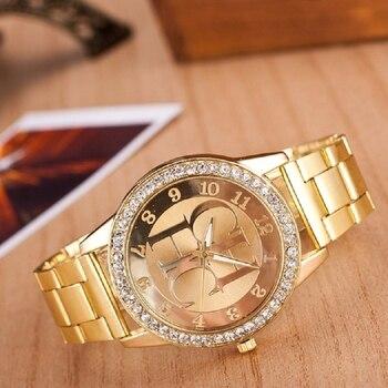 2019 New Top Brand CH Women's Watch Luxury Gold Stainless Steel Sports Watch Unisex Quartz Watch Women's Watch 1