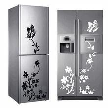 new modern Butterfly Flower refrigerator sticker Wall Stickers For Bedroom Art Decor 3D Sticker Decals Home