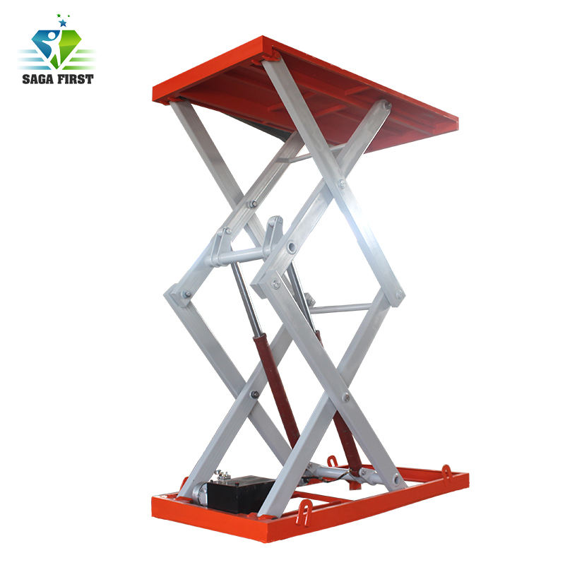 2017 Big Sale Stationary Scissor Lift With Red Color