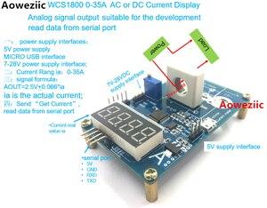 1 шт. WCS1800 0-35A AC DC throu отверстие измеритель тока считывает данные от последовательного порта с USB к ttl