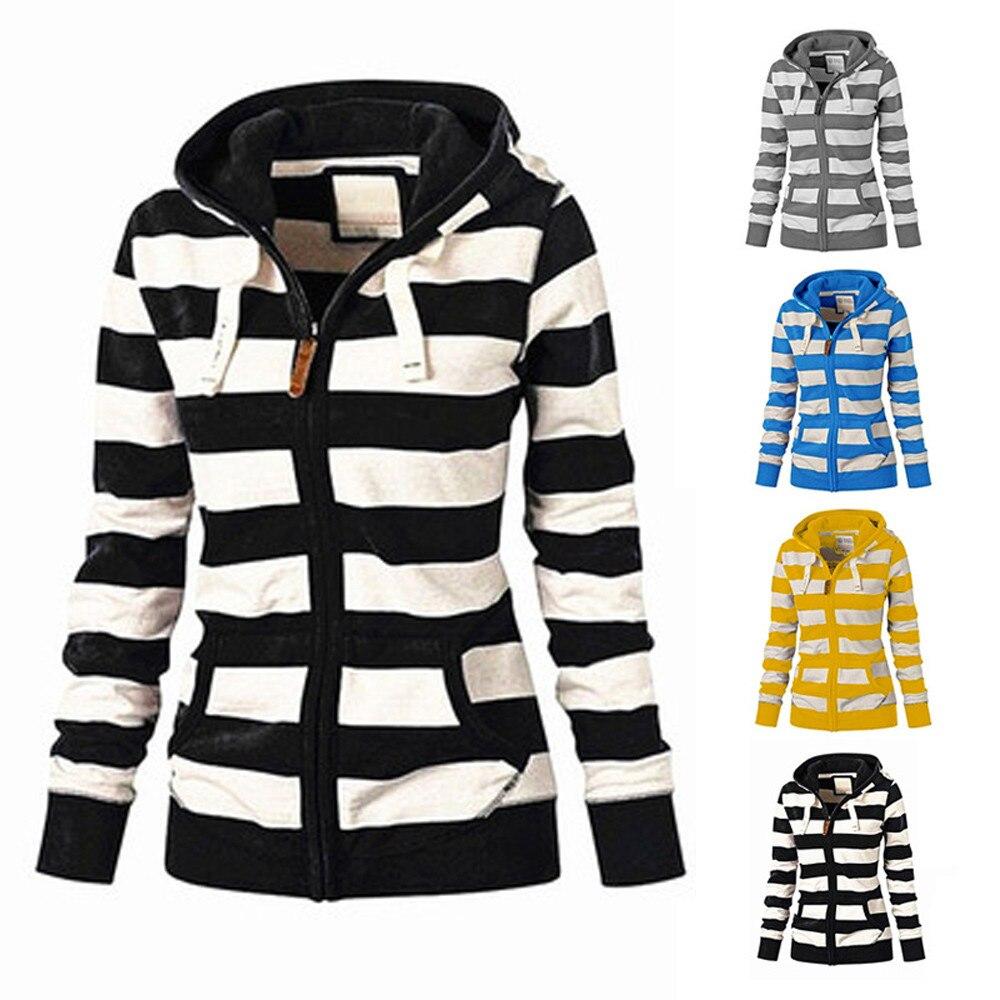 Ladies Zipper Hoodie Hooded Sweatshirt Coat Jacket Casual Slim Jumper Tops Women