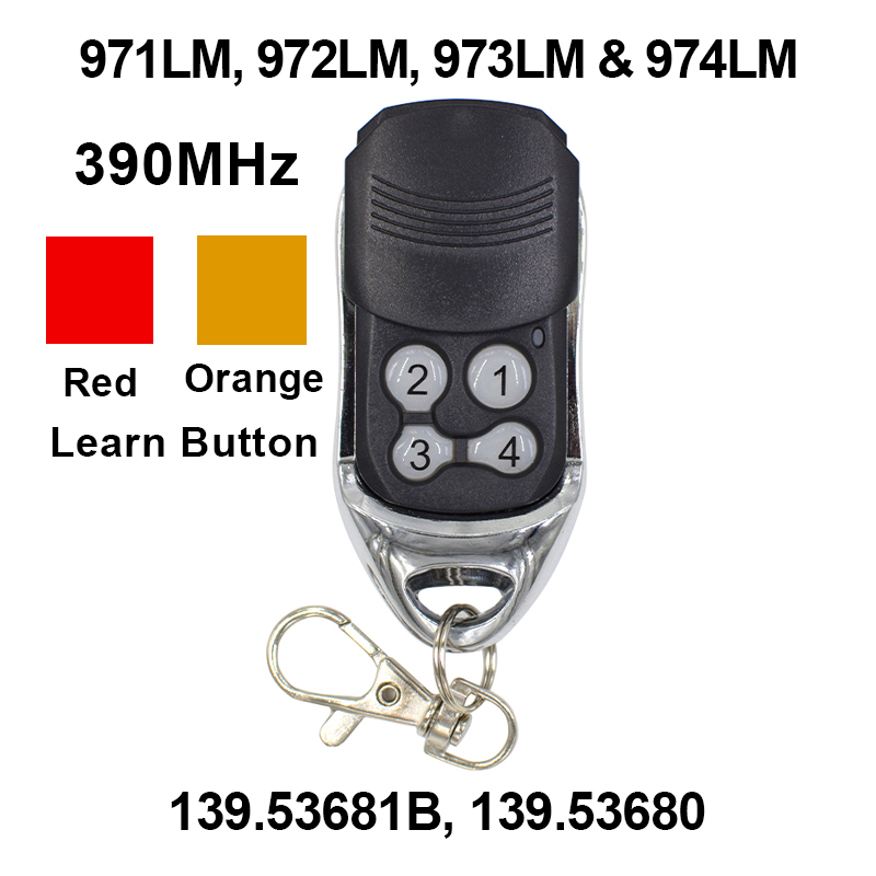390MHz Garage Door Remote Control Opener For 971LM 972LM 973LM 970LM Liftmaster Chamberlain Sears
