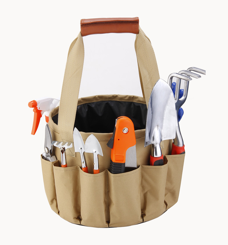 Garden 10PCS Shovel Bottle Spade Trowel Water Bag Gloves With Kit Fork Rake Pruner Bucket Knife Set Spray Garden Set Tool