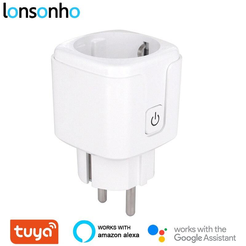 Lonsonho Smart Plug Wifi Smart Socket EU KR Plug 16A 3680W Power Monitor Energy Saver Works With Google Home Mini Alexa