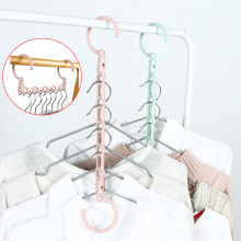 Ветрозащитный магический плащ с 5 отверстиями, вешалка для одежды, многофункциональный держатель, органайзер для одежды, складной вращающийся стеллаж для хранения пальто