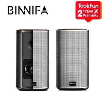 New BINNIFA Desktop Stereo Bluetooth Speaker Music Center USB Sound Card Subwoofer Speakers For The Computer Portable Soundbar 1