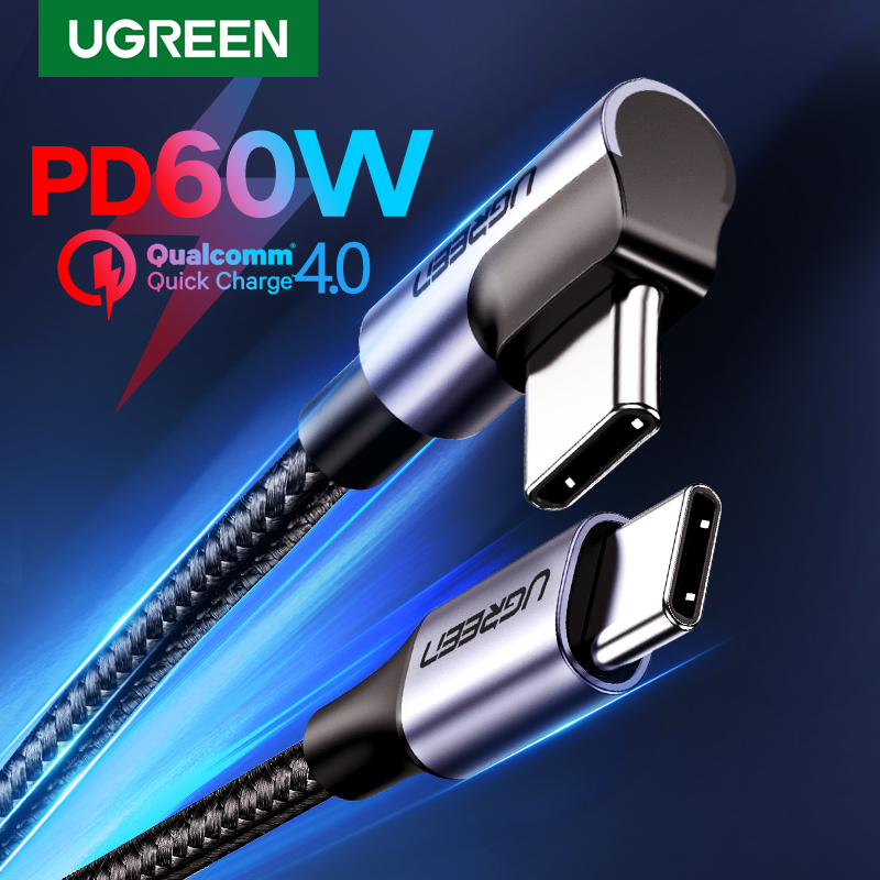 UGREEN USB Type C to USB C Cable for Samsung S9 S8 Plus PD 60W Fast Quick Charger 4.0 USB C Cable for Macbook Pro Air USB Cord|Mobile Phone Cables|   - AliExpress