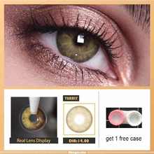 LAREEN 2pcs/pair Colored Contact Lenses Eye GEM Seriers Year Toss Contact Lenses Color Cosmetic Contact Lens for Eyes