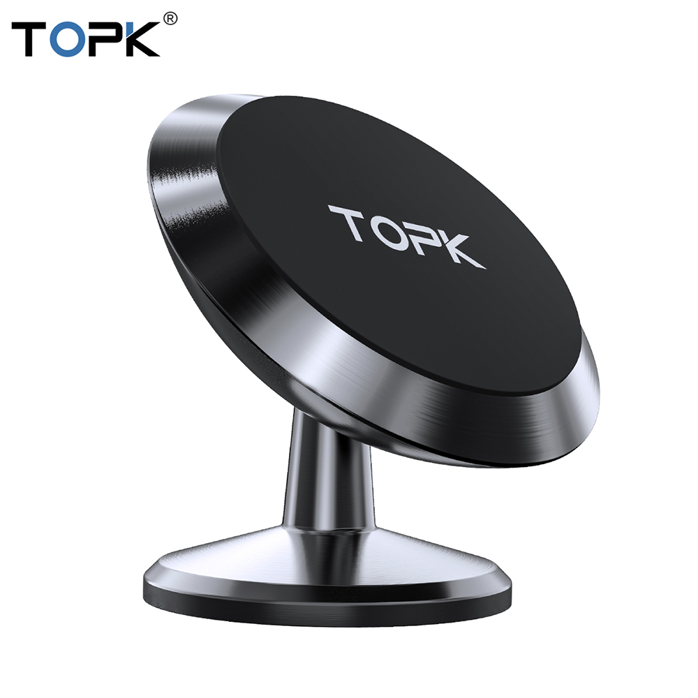 TOPK Magnetic Car Phone Holder Universal Phone Stand For Mobile Phone Magnet Air Vent Mount Support Telephone GPS Car Holder