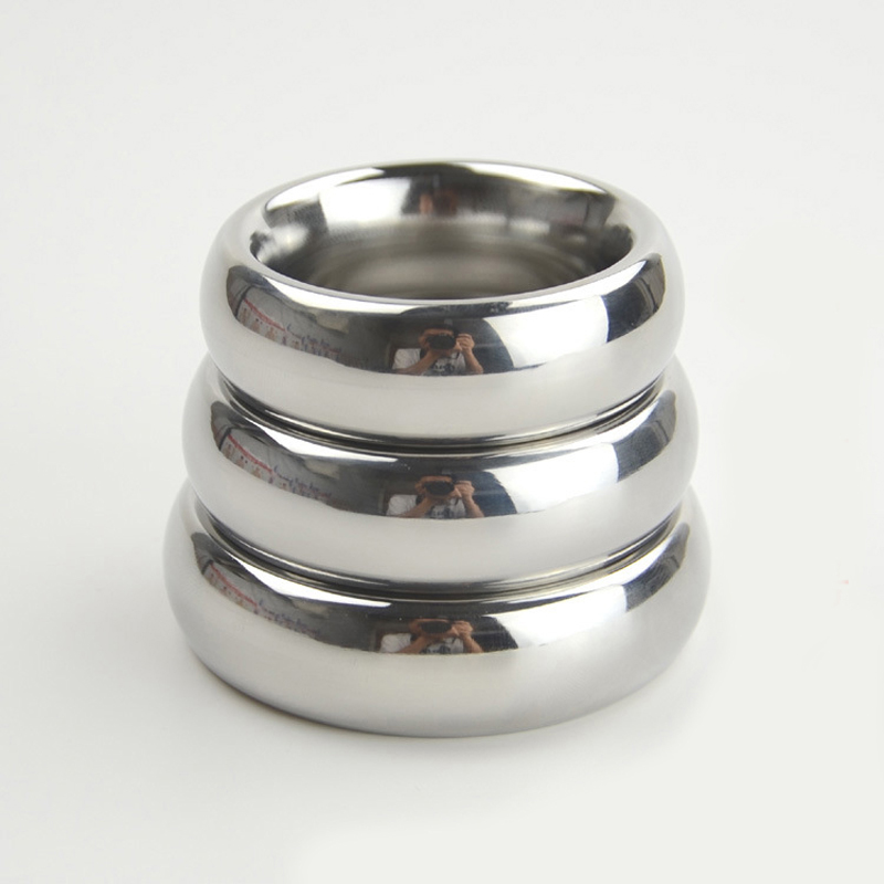 40/45/50mm Metal <font><b>Penis</b></font> <font><b>Ring</b></font> Stainless <font><b>Steel</b></font> Cock <font><b>Ring</b></font> Ball Weight Dick <font><b>Ring</b></font> Scrotum Bondage Adult Sex Toys for Men Cockring image