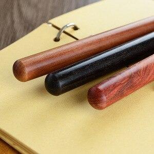Image 2 - 3 adet/grup ahşap pirinç tükenmez kalemler 0.5mm mürekkep tükenmez kalem yazma için toptan 2026