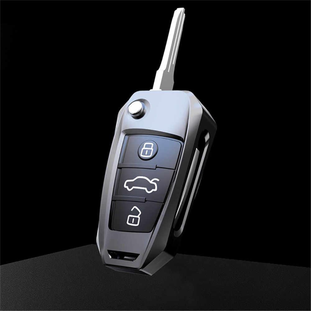 3 Nút Kẽm Hợp Kim Phong Cách Xe Từ Xa Key Fob Bao Đựng Chìa Khóa Có Móc Khóa Dành Cho Xe Audi A1 A3 A4 a6 A7 A8 TT Q5 Q7 Q3 S1 S3