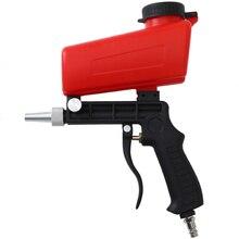 WENXING 90psi المحمولة الجاذبية الرملي بندقية الهوائية الصغيرة الرمال التفجير بندقية رذاذ قابل للتعديل الهوائية ساندبلاستر