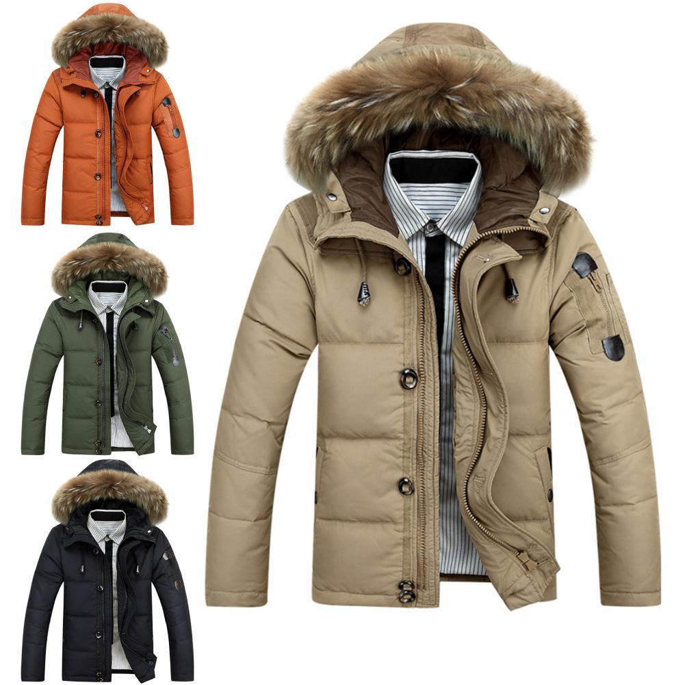 Thick Winter Men Coats Parkas Jacket Men Hooded Jacket Men Warm Parkas Zipper Coat Casual Male Coats Down Jackets Streetwear