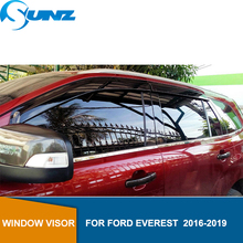window visor for FORD EVEREST  2016-2019 side deflectors rain guards 2016 2017 2018 2019 SUNZ