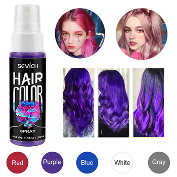 5 Color Hair Spray Party Instant Hair Color Disposable Quick Color Dye Easy Hair Styling Spray Hair Style Instant TSLM1 sevich 5 color hair color spray instant hair color styling product one time hair dry color fashion beauty makeup 30ml