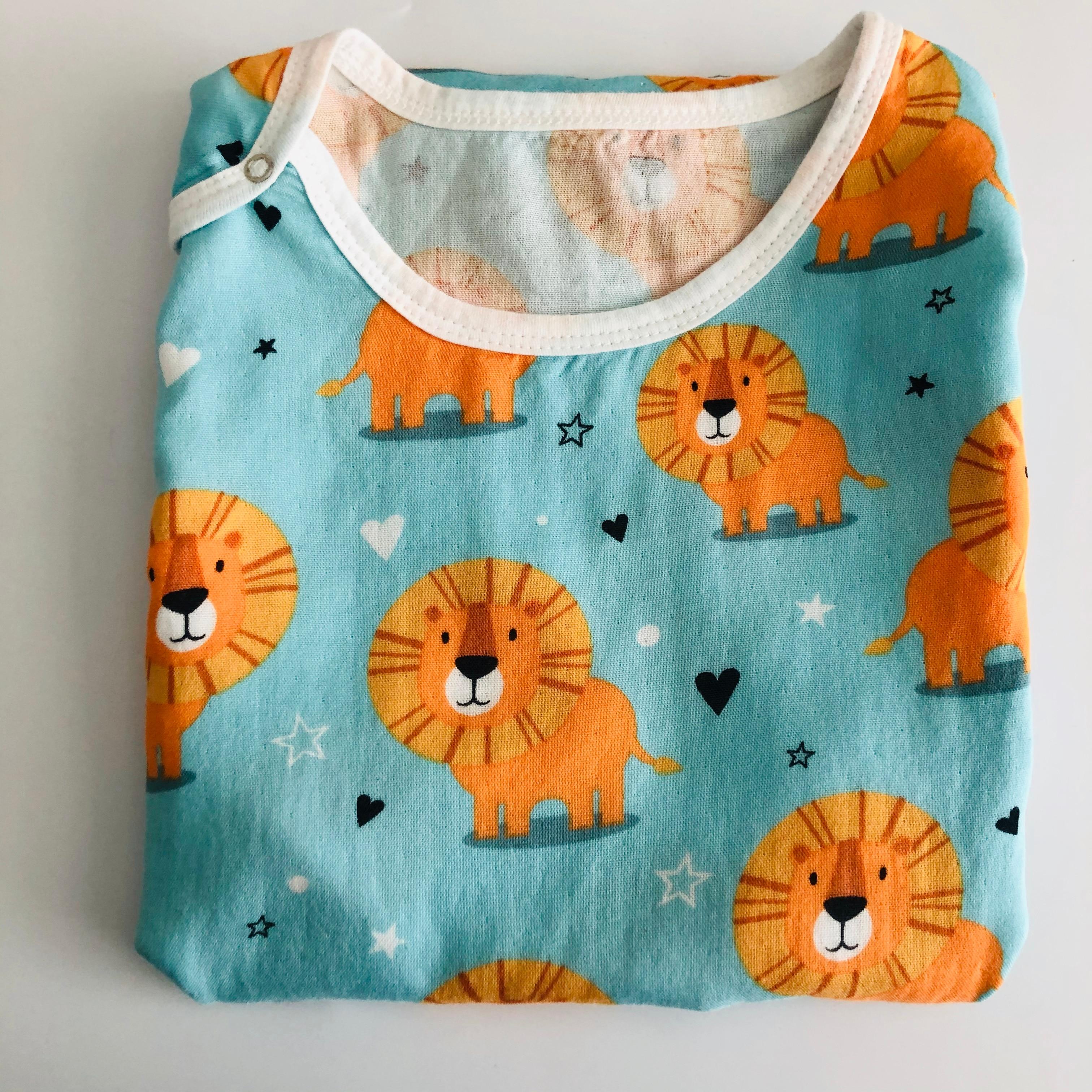 1layer70% Bamboo+30% Cotton Newborn Sleeveless Baby Sleeping Bag Cartoon Bear Muslin Kids Warm Sleeping Bag Printing Pattern S2