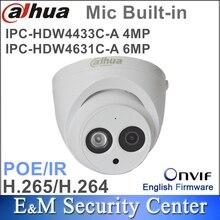 Dahua IPC HDW4433C A de 4MP y 6Mp, IPC HDW4631C A CCTV, IR, POE, CCTV, Mic, domo incorporado, Original