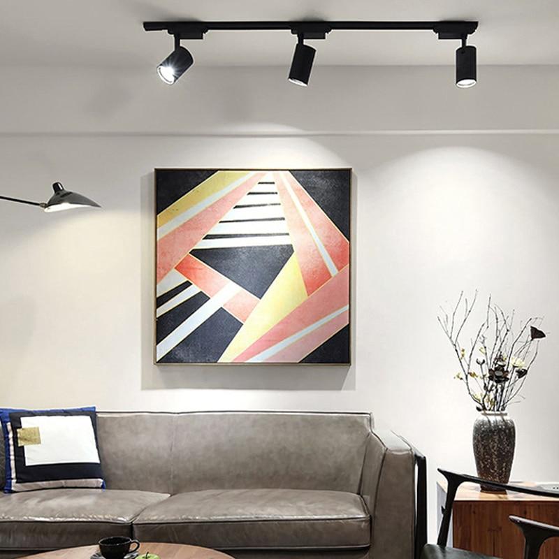 Super jasne lampki ozdobne 20W 30W 40W 220V COB oświetlenie szynowe led lampa reflektory oświetlenie komercyjne domu salon tkaniny sklep