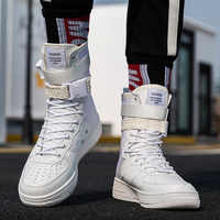 Hot Sale Fashion High Top Buckle Lovers Breathable Casual Sneakers zapatillas Personality street style couple shoes