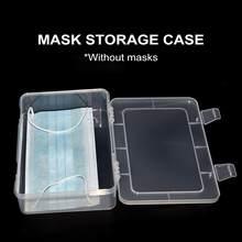 Recipiente dustproof da máscara do caso da caixa de armazenamento da máscara da cara para armazenar a máscara facial descartável-7.3*5.3*1.7 dentro
