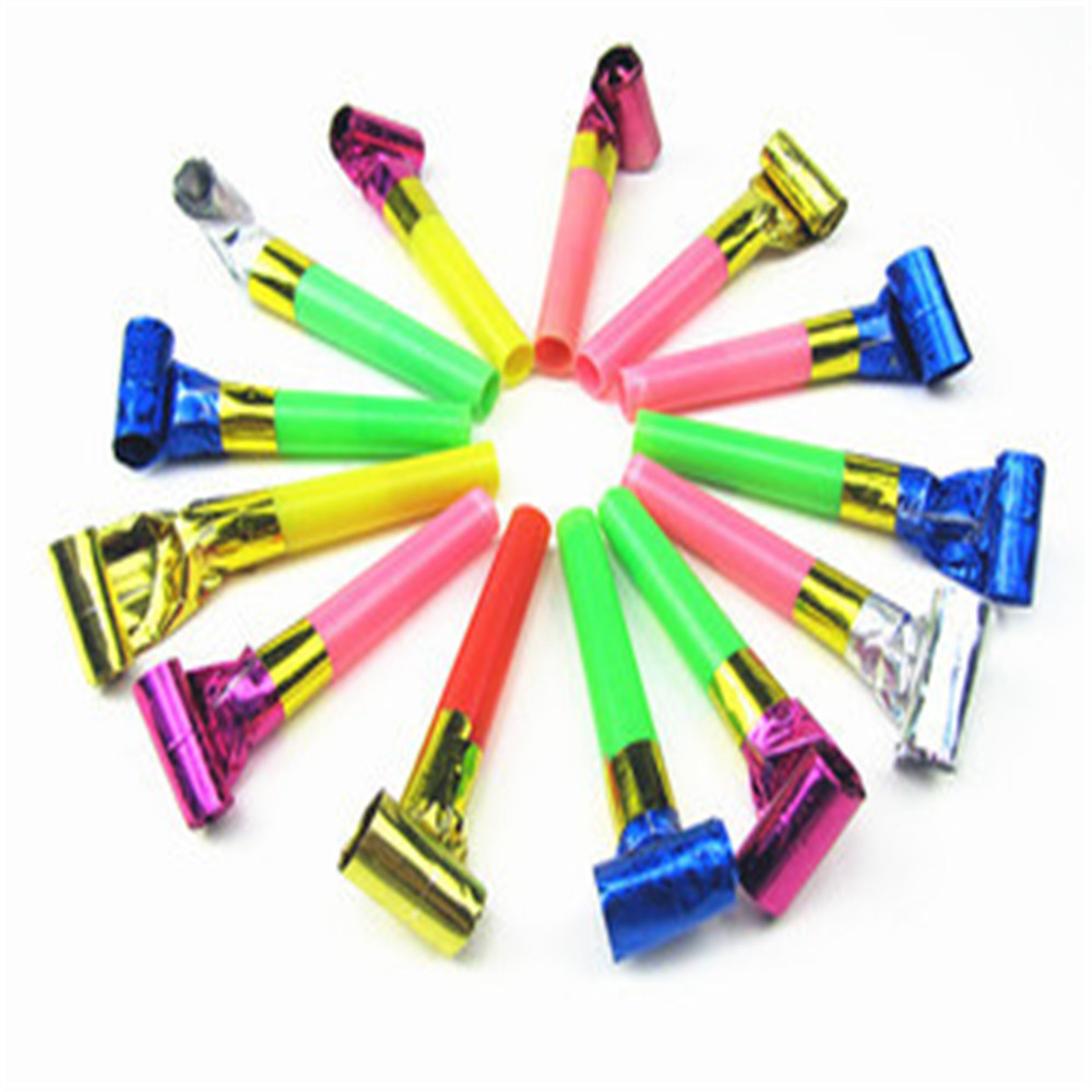 Hot Sale 1pc/12Pcs Noise Maker Blowout Jazzy Whistle Blow Out Wedding Party Supplies Kids Toy Happy High Quality