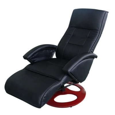 Electric Massage Chair Synthetic Leather Black